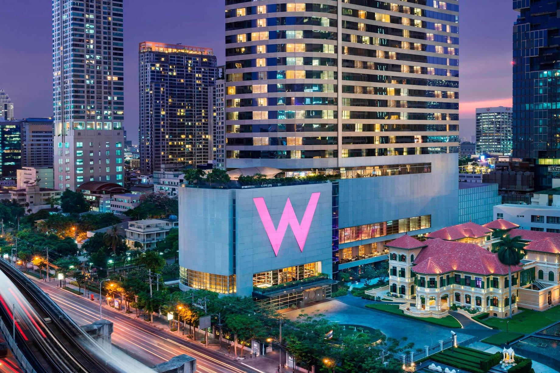 W Bangkok Luxury Hotel - Bangkok, Thailand - Hotel Exterior Night