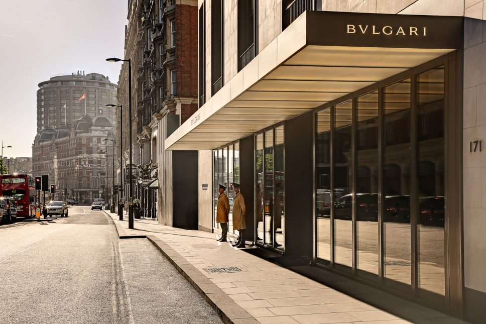Bvlgari Luxury Hotel London - Knightsbridge, London, UK - Hotel Front Entrance