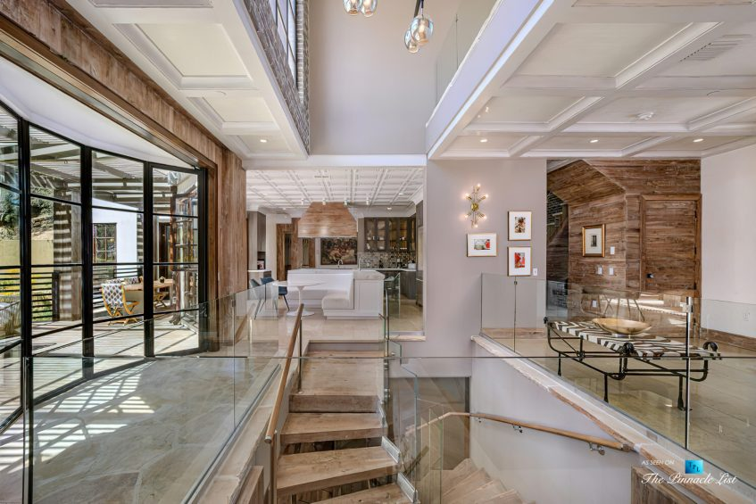 1105 Rivas Canyon Rd, Pacific Palisades, CA, USA - Luxury Real Estate - Entrance Stairs and Living Room