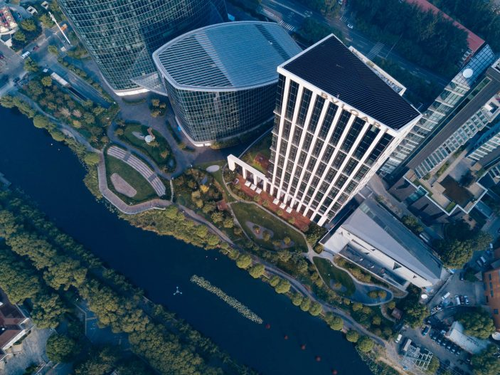 Bvlgari Luxury Hotel Beijing - Beijing, China - Hotel Overhead Aerial View