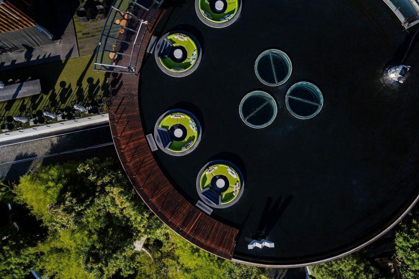 W Koh Samui Luxury Resort - Thailand - W Lounge Pool Overhead Aerial View