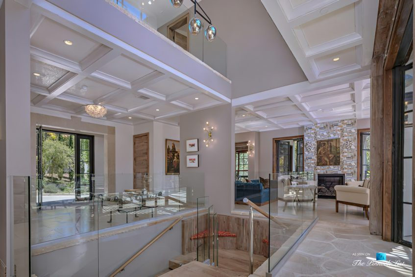 1105 Rivas Canyon Rd, Pacific Palisades, CA, USA - Luxury Real Estate - Entrance Foyer and Living Room