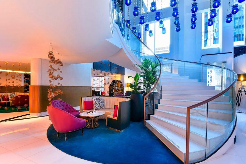 W Doha Luxury Hotel - Doha, Qatar - Lobby Stairs