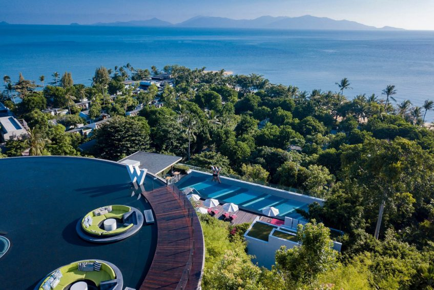 W Koh Samui Luxury Resort - Thailand - W Lounge Aerial Views from the Top