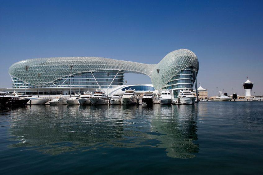 W Abu Dhabi Yas Island Luxury Hotel - Abu Dhabi, UAE - Hotel Exterior Water View