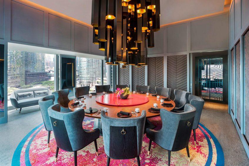 W Kuala Lumpur Luxury Hotel - Kuala Lumpur, Malaysia - YEN Restaurant Table