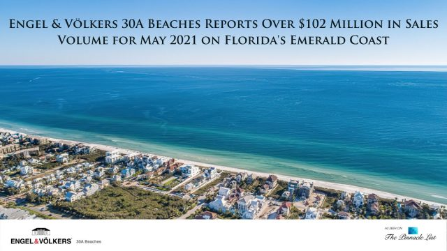 Engel & Völkers 30A Beaches Reports Over $102 Million in Sales Volume for May 2021 on Florida's Emerald Coast