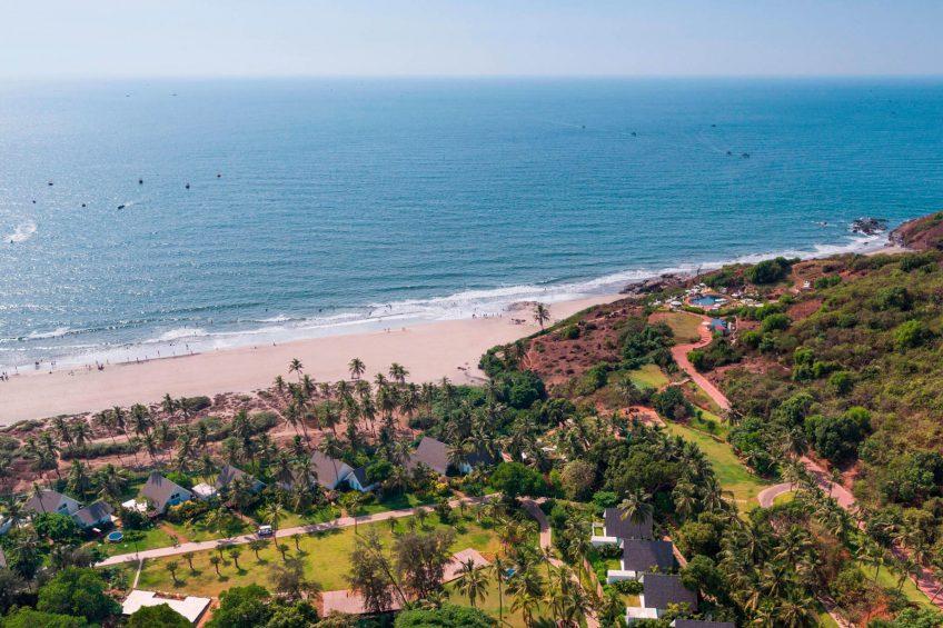 W Goa Vagator Beach Luxury Resort - Goa, India - Aerial Beach View