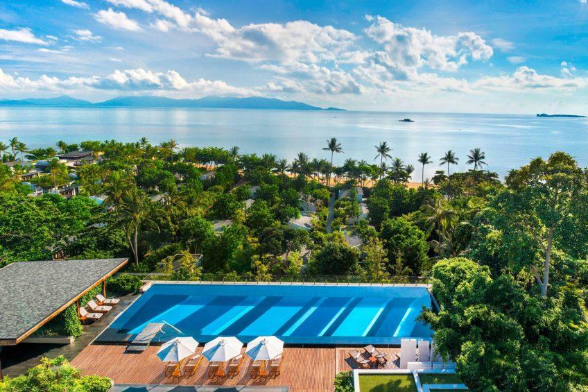 W Koh Samui Luxury Resort - Thailand - WET Pool Aerial Ocean View