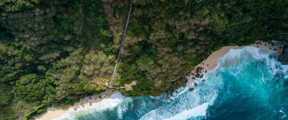 Bvlgari Luxury Resort Bali - Uluwatu, Bali, Indonesia - Resort Inclined Elevator to the Beach