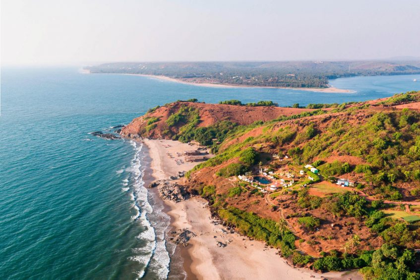 W Goa Vagator Beach Luxury Resort - Goa, India - Chapora Fort Sea View
