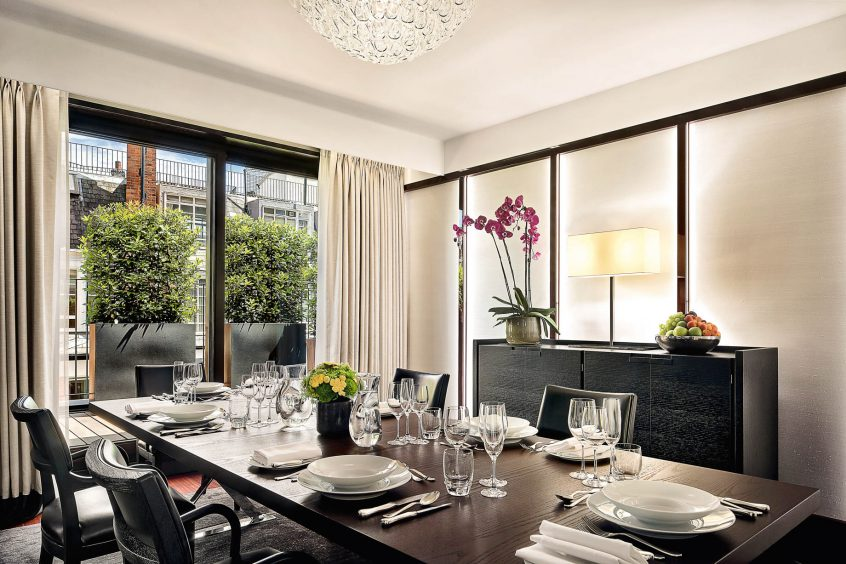 Bvlgari Luxury Hotel London - Knightsbridge, London, UK - Bvlgari Suite Dining Room