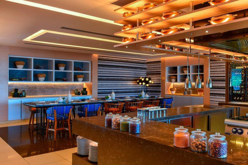 W Amman Luxury Hotel - Amman, Jordan - Mesh Restaurant Dining Room Table