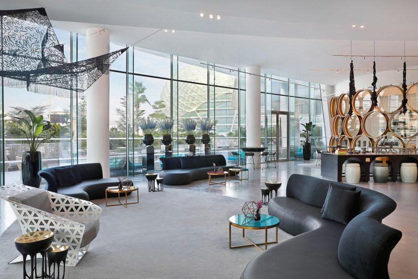 W Abu Dhabi Yas Island Luxury Hotel - Abu Dhabi, UAE - Living Room Lounge
