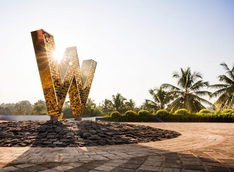W Goa Vagator Beach Luxury Resort - Goa, India - W Sign Front Entrance