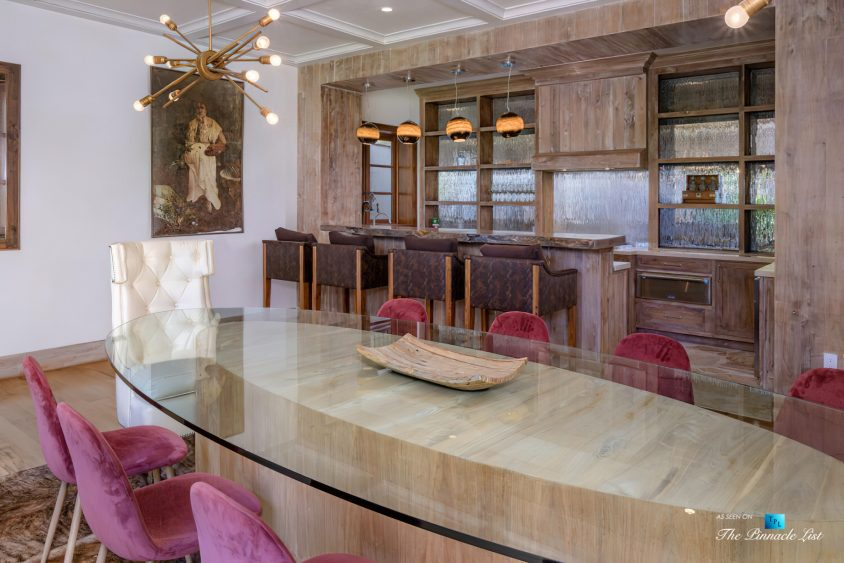 1105 Rivas Canyon Rd, Pacific Palisades, CA, USA - Luxury Real Estate - Dining Room Bar