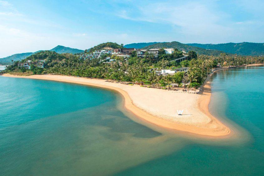 W Koh Samui Luxury Resort - Thailand - Resort Beach Aerial View