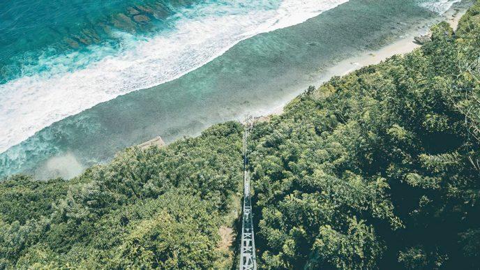 Bvlgari Luxury Resort Bali - Uluwatu, Bali, Indonesia - Inclined Elevator to the Beach