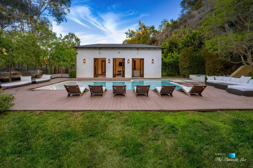 1105 Rivas Canyon Rd, Pacific Palisades, CA, USA - Luxury Real Estate - Pool Deck and Cabana