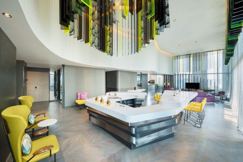 W Kuala Lumpur Luxury Hotel - Kuala Lumpur, Malaysia - E WOW Suite Living Room Area