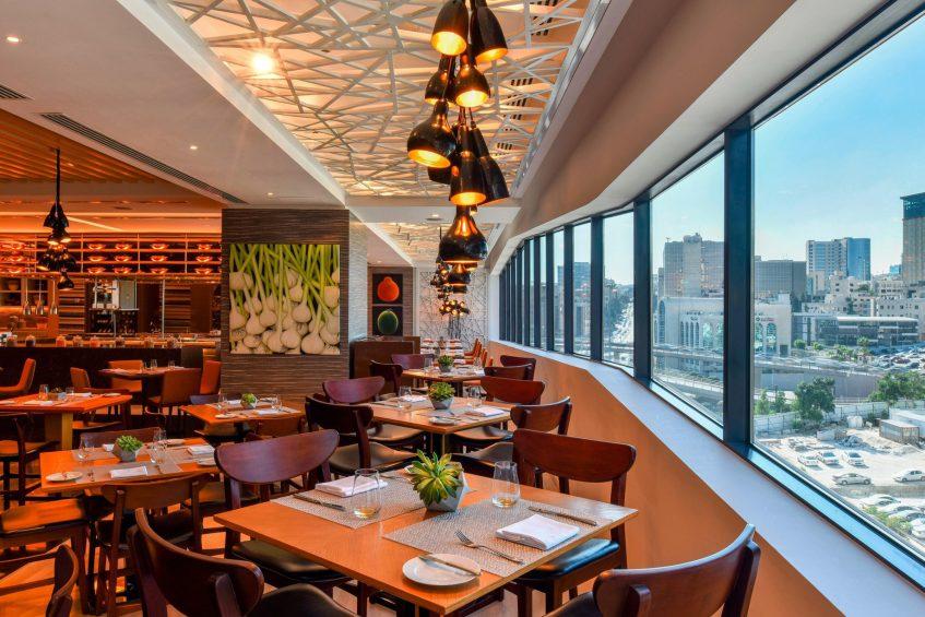 W Amman Luxury Hotel - Amman, Jordan - Mesh Restaurant Table View