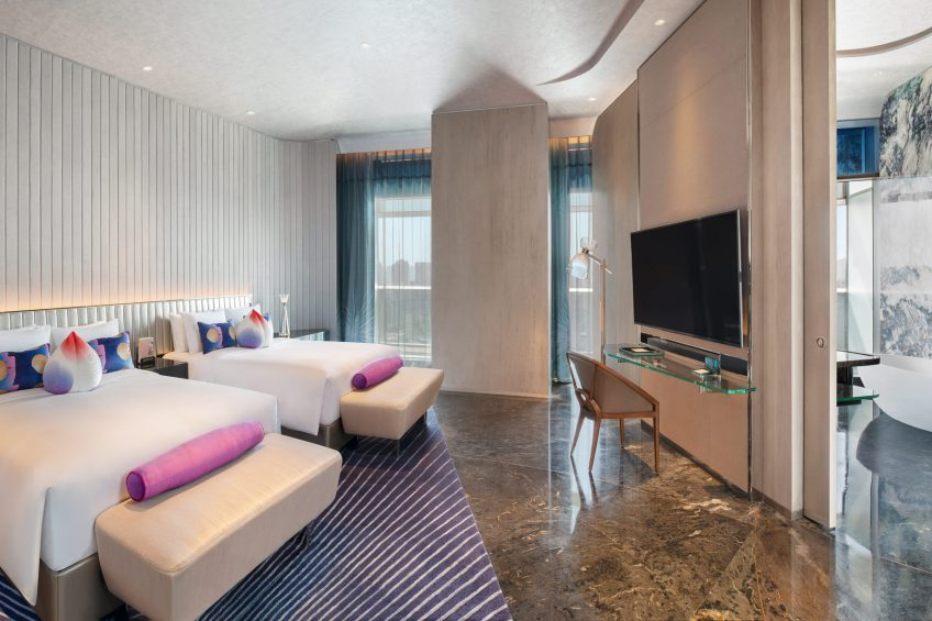 W Xi'an Luxury Hotel - Xi'an, Shaanxi Province, China - E WOW Suite Twin Bedroom