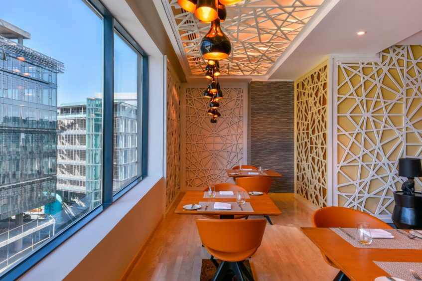W Amman Luxury Hotel - Amman, Jordan - Mesh Restaurant Table Setting