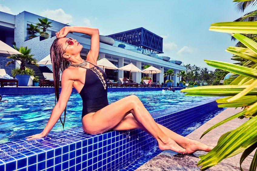 W Goa Vagator Beach Luxury Resort - Goa, India - WET Pool Lifestyle