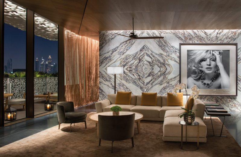 Bvlgari Luxury Resort Dubai - Jumeira Bay Island, Dubai, UAE - Lobby at Night