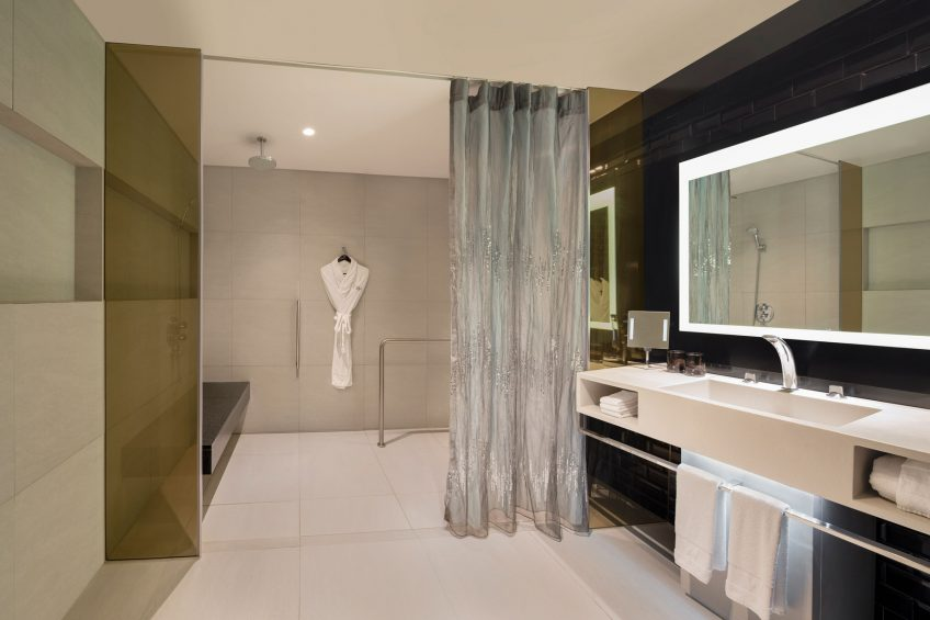 W Bangkok Luxury Hotel - Bangkok, Thailand - Accessible Guest Bathroom Shower