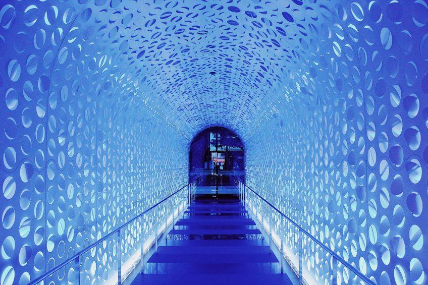 W Osaka Luxury Hotel - Osaka, Japan - Iconic Blue Tunnel