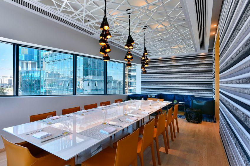 W Amman Luxury Hotel - Amman, Jordan - Mesh Restaurant Table