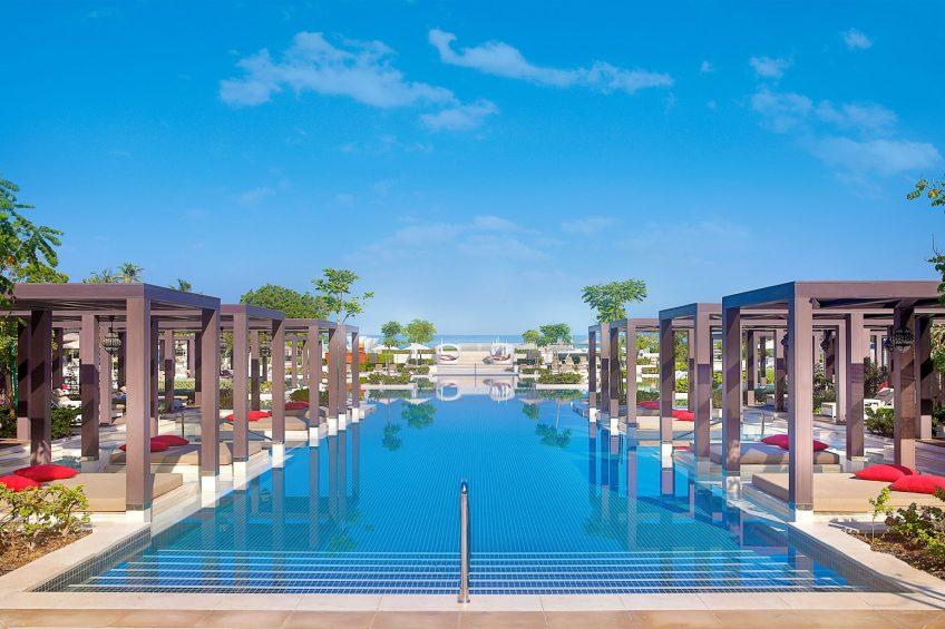 W Muscat Luxury Resort - Muscat, Oman - WET Outdoor Pool Ocean View