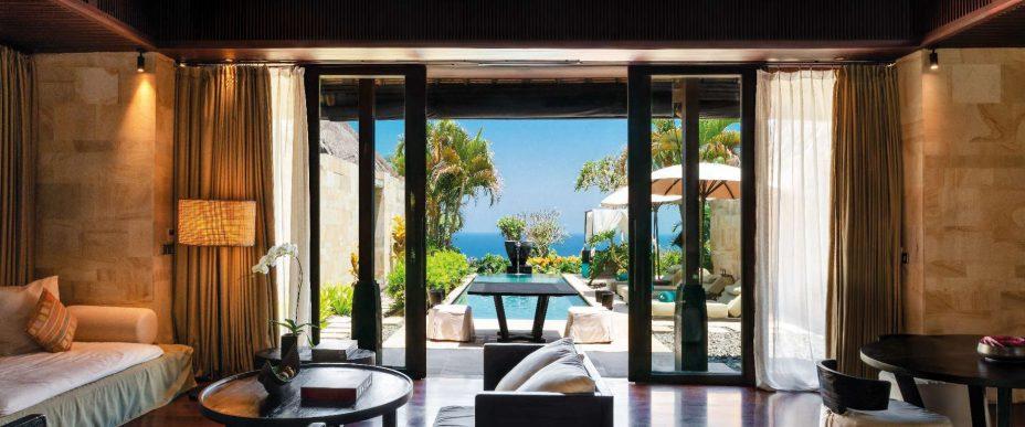 Bvlgari Luxury Resort Bali - Uluwatu, Bali, Indonesia - Ocean Cliff Villa Living Room Ocean View