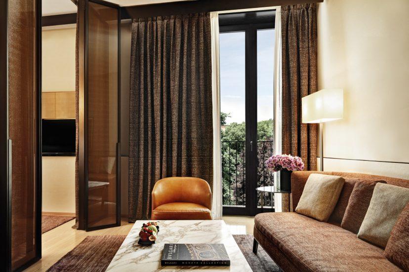 Bvlgari Luxury Hotel Milano - Milan, Italy - One Bedroom Suite Sitting Area