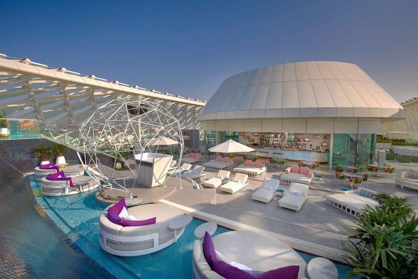W Abu Dhabi Yas Island Luxury Hotel - Abu Dhabi, UAE - WET Deck Exterior