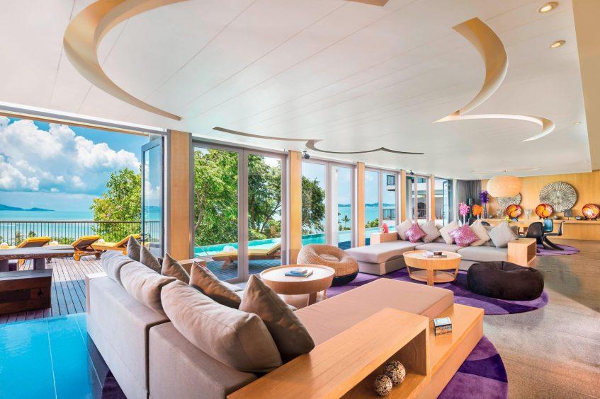 W Koh Samui Luxury Resort - Thailand - Extreme WOW Ocean Haven Villa Living Room