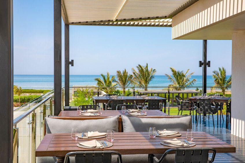 W Muscat Luxury Resort - Muscat, Oman - CHAR Restaurant Outdoor Patio Tables