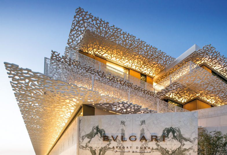 Bvlgari Luxury Resort Dubai - Jumeira Bay Island, Dubai, UAE - Resort Entrance Architecture