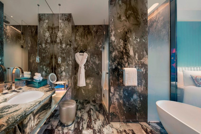 W Xi'an Luxury Hotel - Xi'an, Shaanxi Province, China - Spectacular Guest Bathroom Double