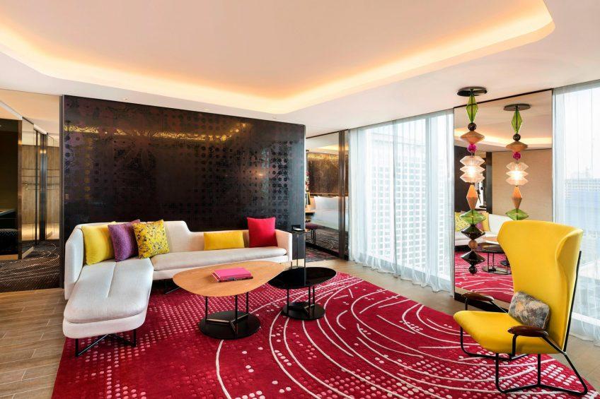 W Kuala Lumpur Luxury Hotel - Kuala Lumpur, Malaysia - Studio Suite Living Area