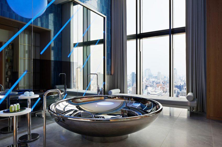 W Osaka Luxury Hotel - Osaka, Japan - Extreme WOW Penthouse Suite Bathroom