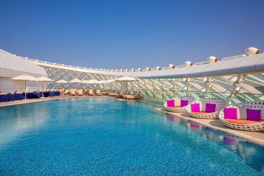 W Abu Dhabi Yas Island Luxury Hotel - Abu Dhabi, UAE - WET Deck Sun Deck