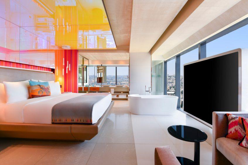 W Amman Luxury Hotel - Amman, Jordan - WOW Suite Bedroom