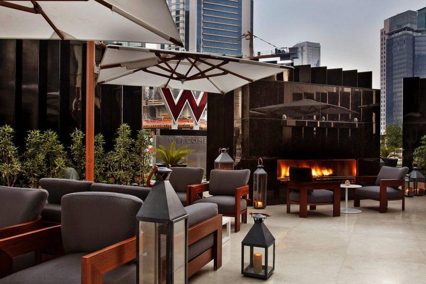 W Doha Luxury Hotel - Doha, Qatar - La Spiga by Paper Moon Terrace Fireplace