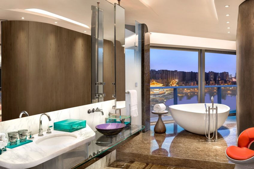 W Xi'an Luxury Hotel - Xi'an, Shaanxi Province, China - Suite Universal Bathroom