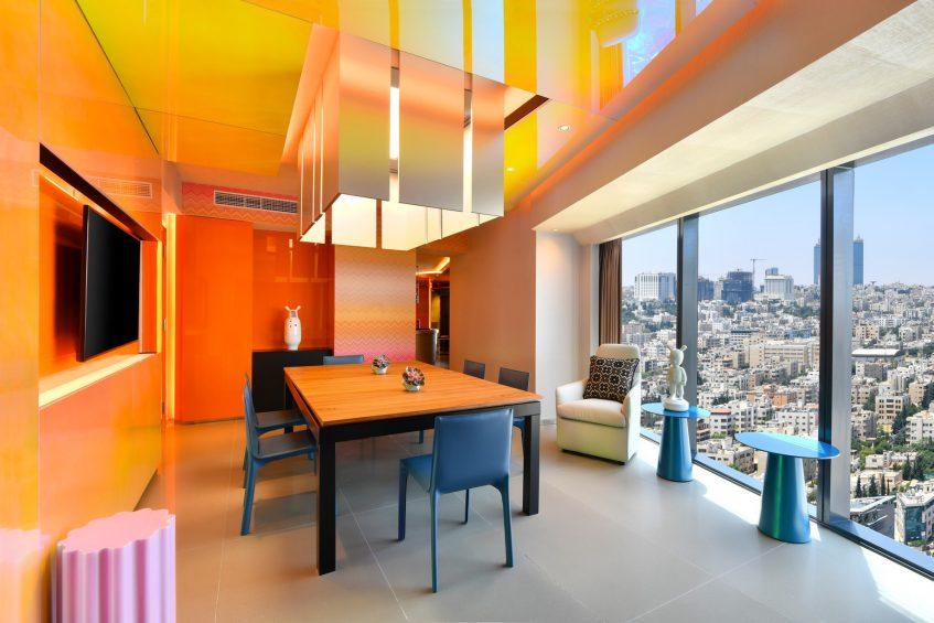W Amman Luxury Hotel - Amman, Jordan - WOW Suite Dining Room