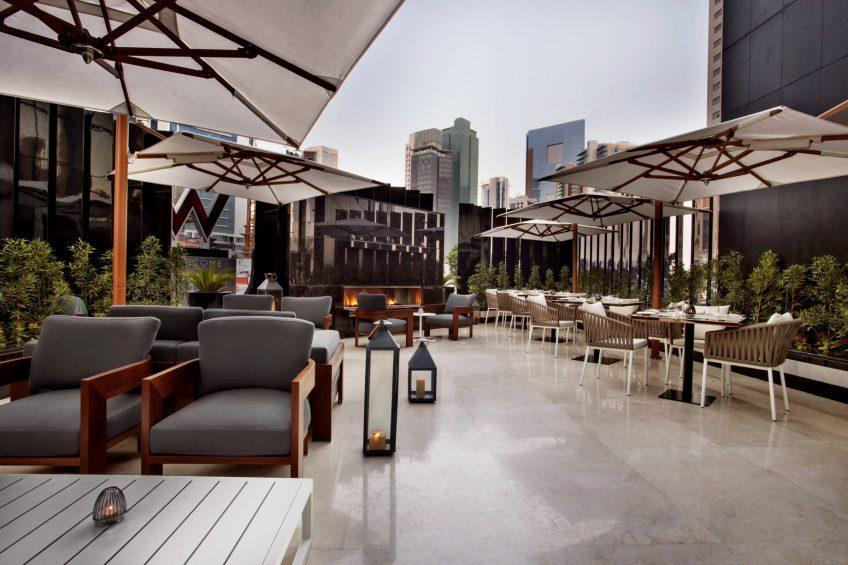 W Doha Luxury Hotel - Doha, Qatar - La Spiga by Paper Moon Tables on Terrace