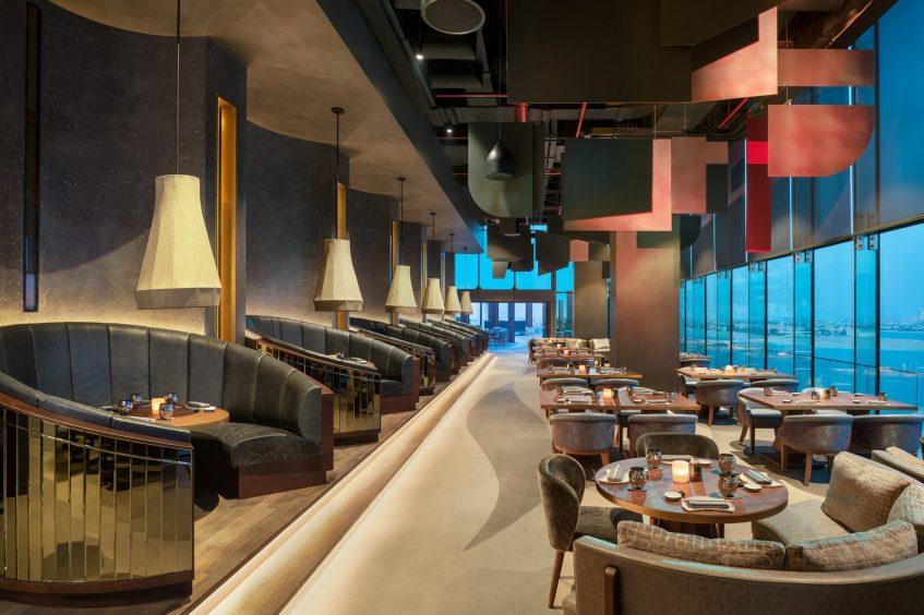 W Dubai The Palm Luxury Resort - Dubai, UAE - Akira Back Restaurant Night View