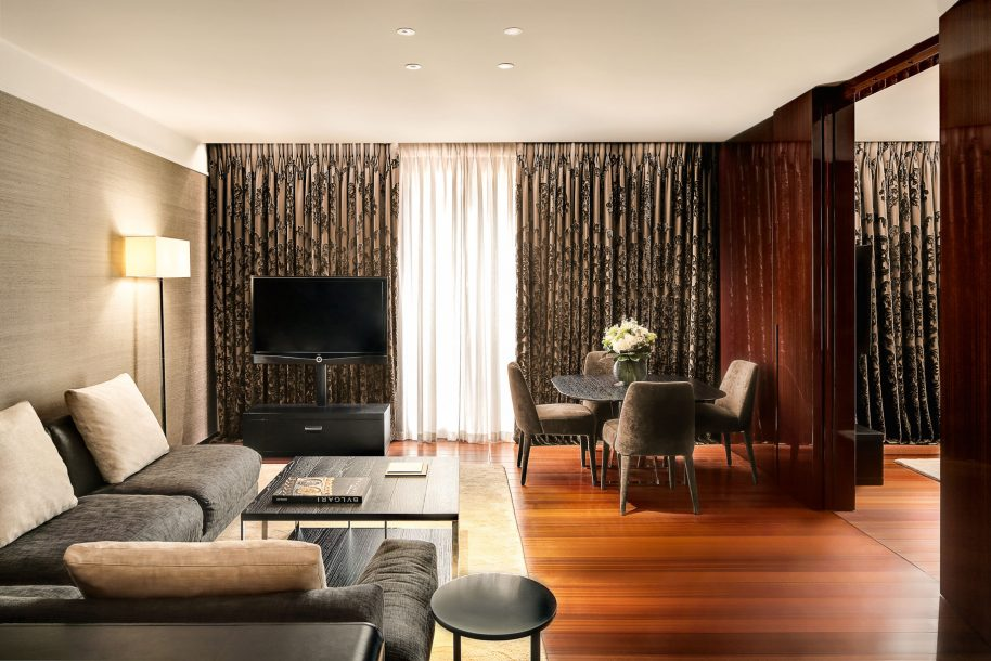 Bvlgari Luxury Hotel London - Knightsbridge, London, UK - Deluxe Suite Living Room